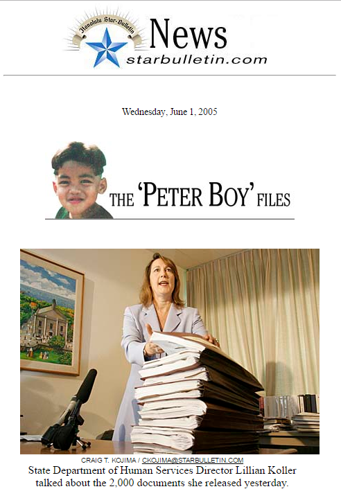Peter Boy archive files